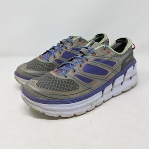 Hoka One One Conquest 2 Purple Grey Running sz 9.5